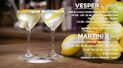 Vesper and Martini Cocktail