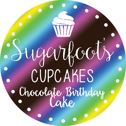 Chocolate Birthday Cake Cupcake Jar