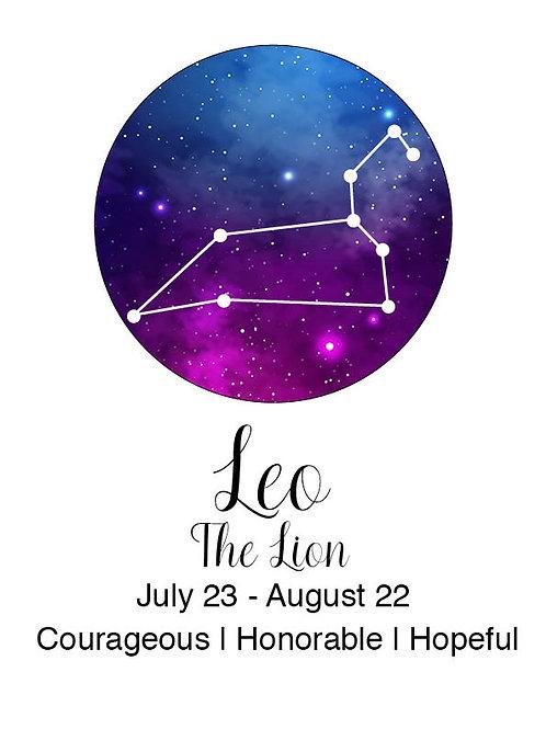 Leo Astrology Poster
