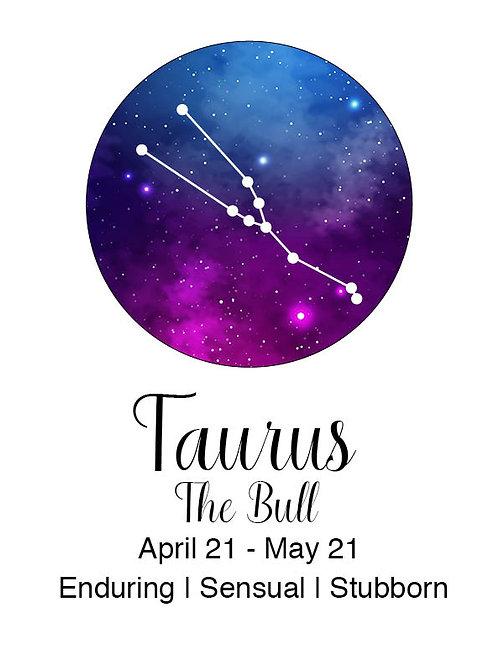 Taurus Astrology Poster