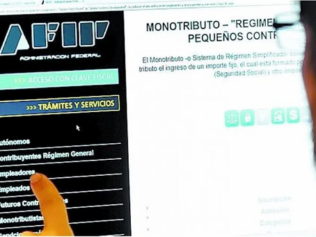 La Afip suspende las bajas de los monotributos por falta de pago