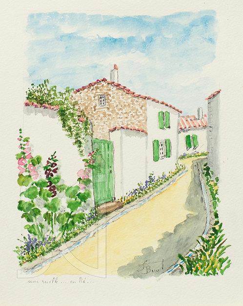 A Small Street (Ile de Re)