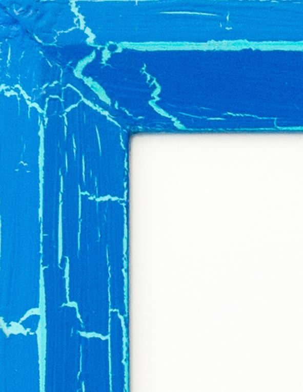 Blue Crackle over Light Blue