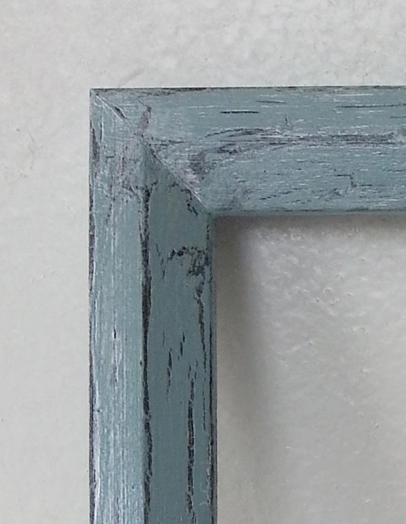 Blue Crackle Finish over Black