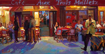 "Aux Trois Maillets, Artist: N. Paciorek, 30"" x 40"""