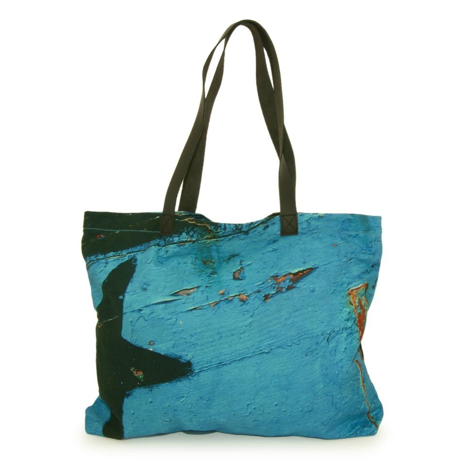 Star Turquoise Tote Handbag