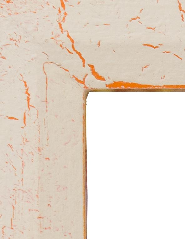 Cream Crackle over Orange