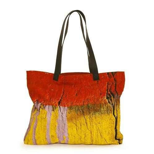 Boat Orange Tote Handbag
