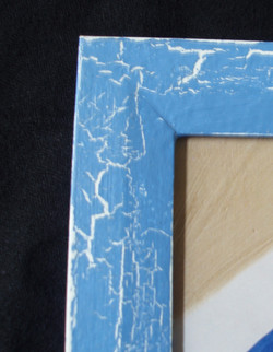 Blue Crackle over White