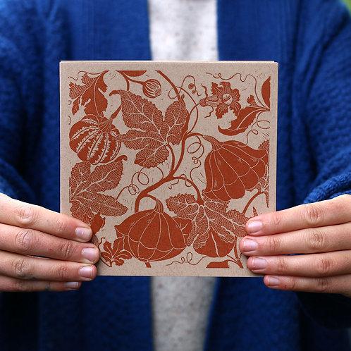 Vegetable Linocut Card Selection - 5 Pack