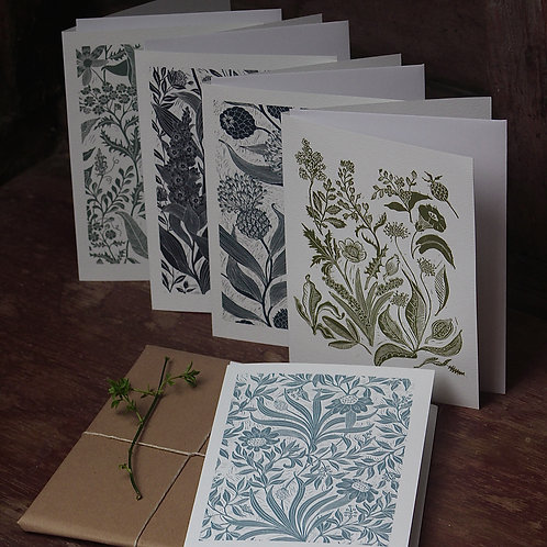 Botanical Cards - 5 pack