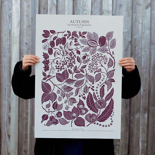 Autumn Foraging Poster