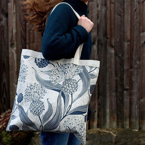 Tote Dancing Meadow with Hemp Straps
