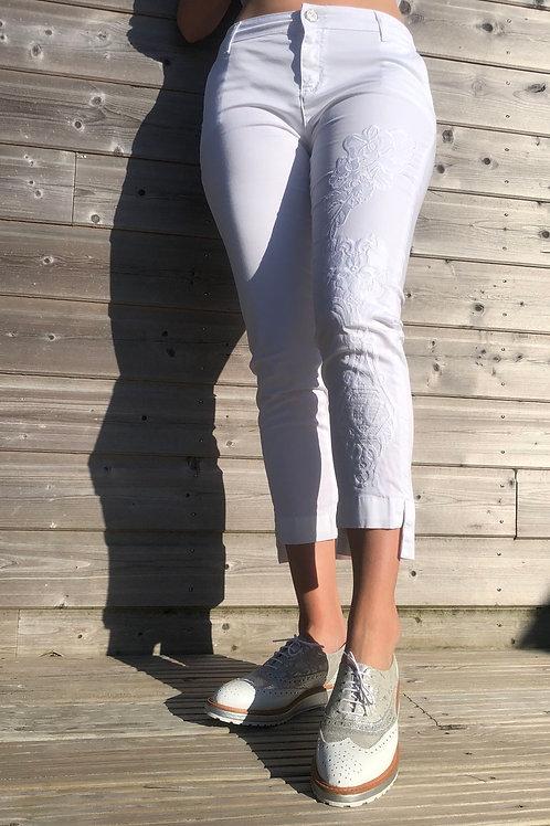 Pantalon brodé ELISA CAVALETTI