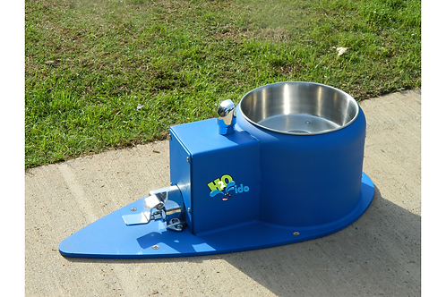 low profile dog drinking fountain