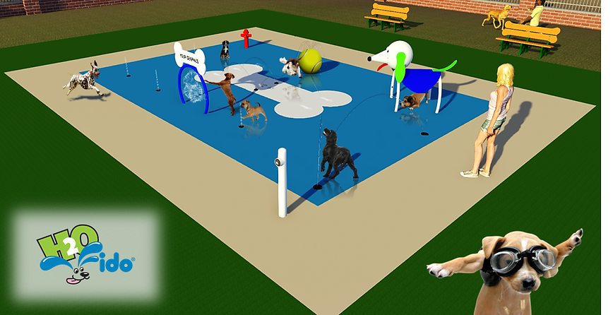 awesome water park design for dog