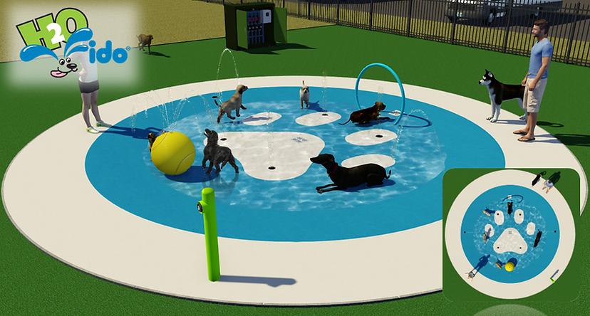 doggie splash pad circular design