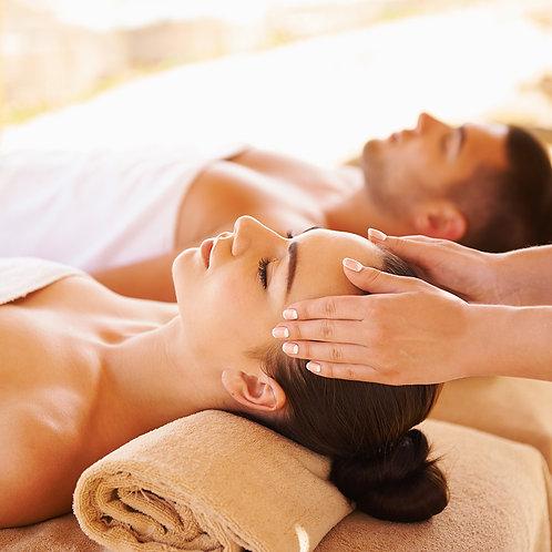 A couple massage