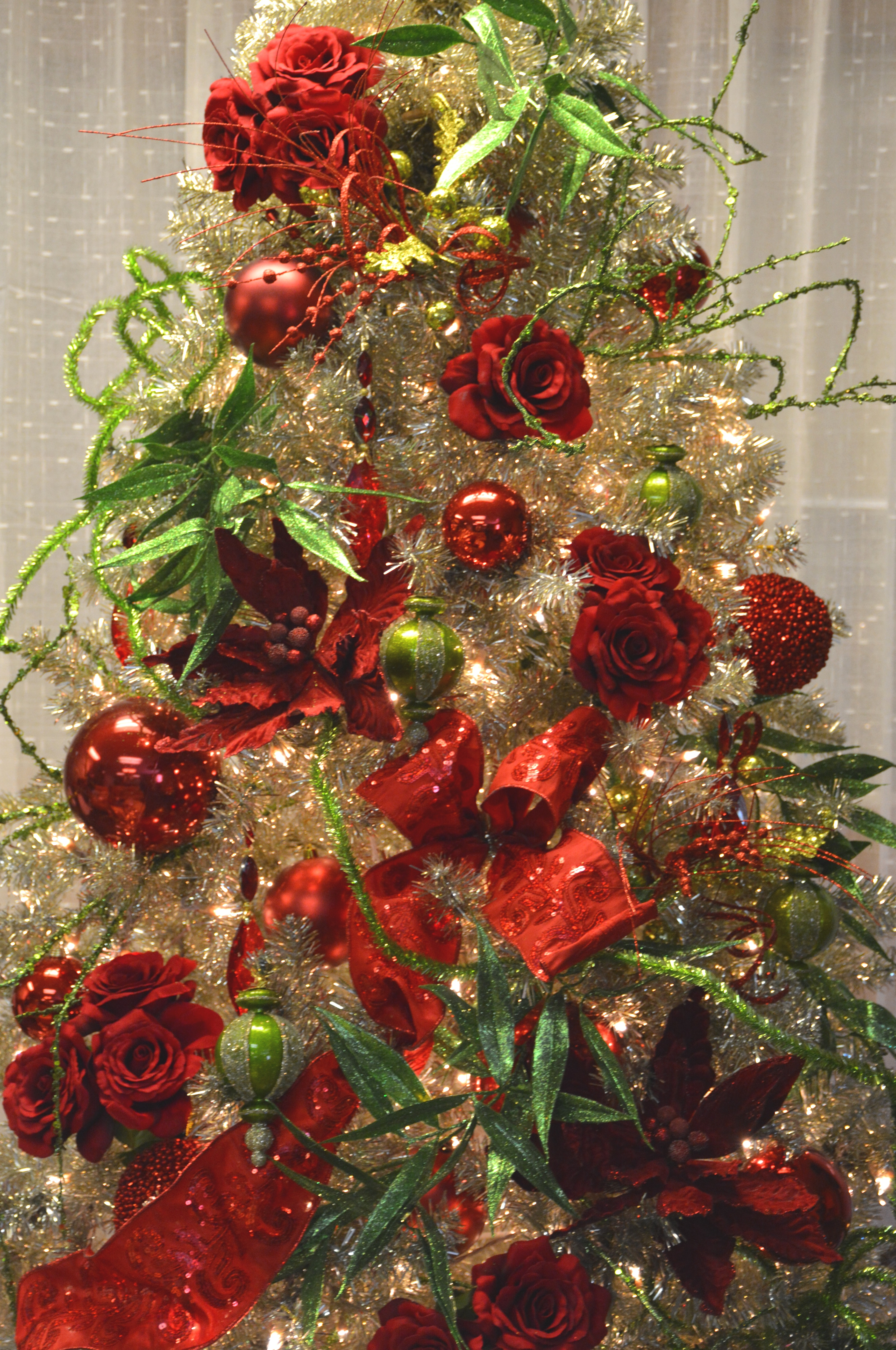 lime and red tinsel