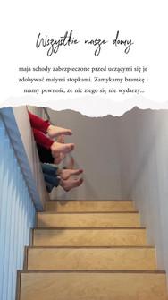 barierka na schodach Cisowy Zakątek