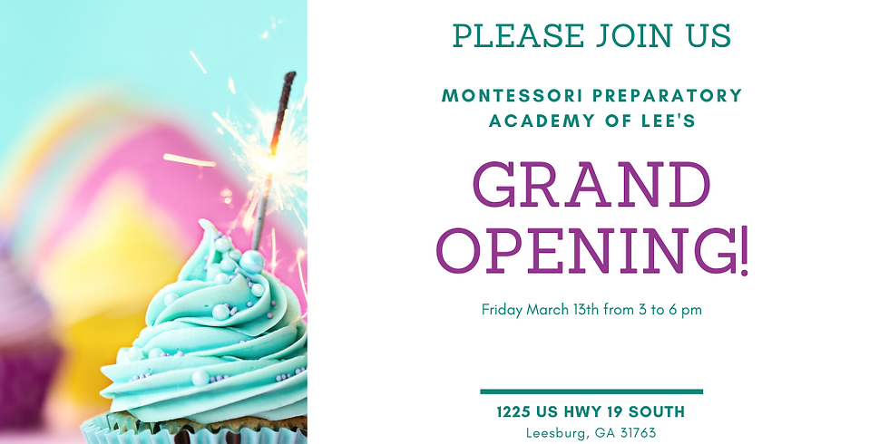 Montessori Preparatory Academy of Lee's Grand Opening!