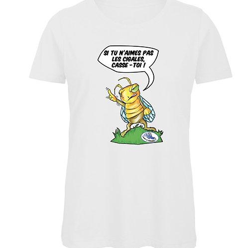 """T-Shirt Femme """"La Cigale En Colère"""""""