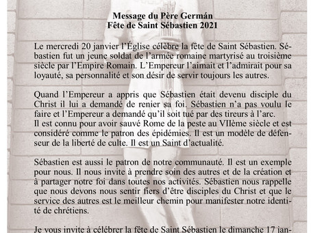 Fête de Saint Sébastien 2021