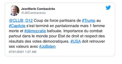 Tweeté par JeanMarie Cambacérès sur T