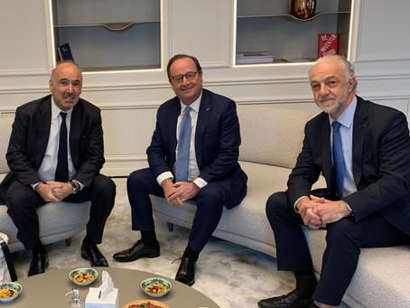 Visite avec François Hollande de Philanthro-lab