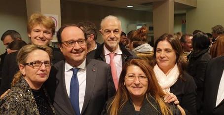 Avec François Hollande pour les vœux en Corrèze, le 11 janvier 2020