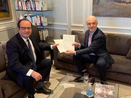 Message de François Hollande à Club D12 pour les rencontres d'été des 24 et 25 juillet.
