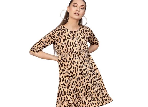 Cheetah A Line Dress