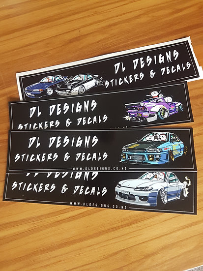 Dl designs slap stickers