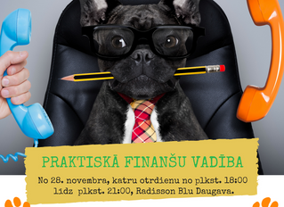 Praktiskā finanšu vadība - jauna grupa no 28. novembra