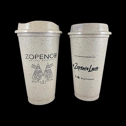 Vaso para cafe hecho de fibra de agave