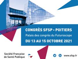 CONGRÉS #SFSP2021 À POITIERS DU 13 AU 15 OCTOBRE 2021
