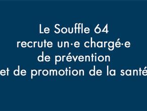 L'ASSOCIATION LE SOUFFLE 64 RECRUTE !