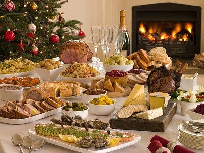 Holiday buffet from www.painlesscooking.com