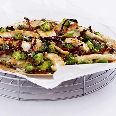 Chicken Pesto Pizza from Gourmet Nutrition
