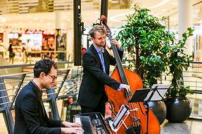 Jazzband, Hochzeitsband und Dinnerband aus dem Raum Karlsruhe, Duo Noble Jazz, Milaneo Stuttgart