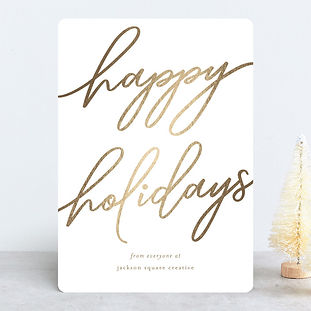 Minted Business Holiday Card