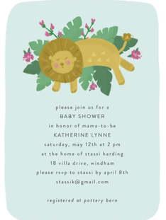 Lion Baby Shower Invite