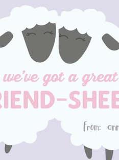 Friendsheep Valentine