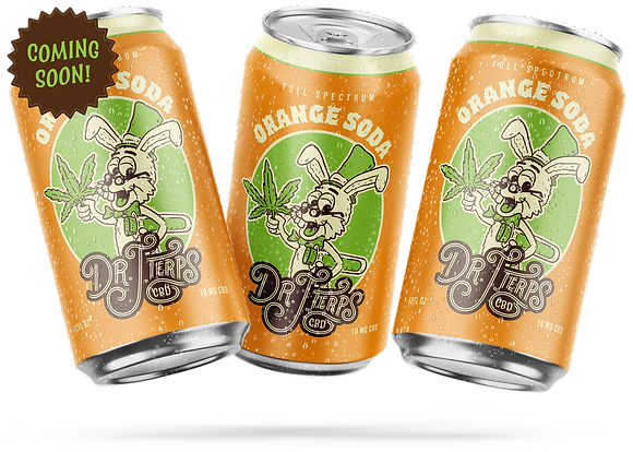 Dr. J. Terps | CBD Orange Soda Six Pack