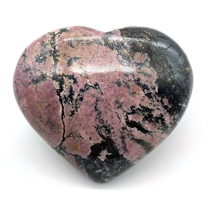 Rhodonite Heart Medium from Pakistan (A Grade - 6cm approx)