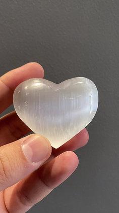 A Grade Selenite Heart