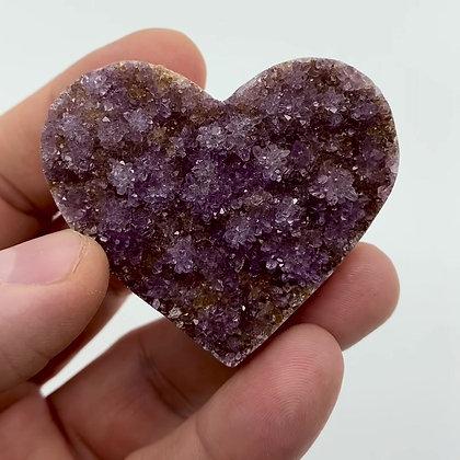 Druzy Amethyst Heart (lilac - 5.5cm approx)