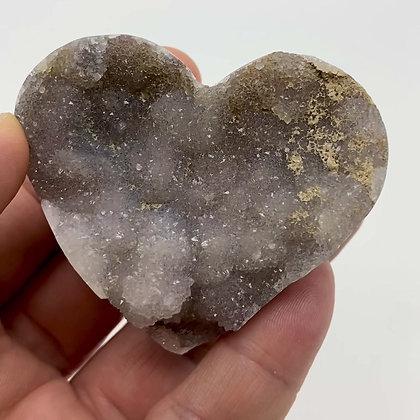 Druzy Chalcedony Heart (chunky - 6.5cm approx)