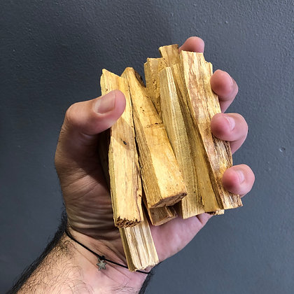 Ethically harvested Palo Santo from Peru  (3 pieces) size approx 2x4x9cm