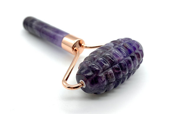 Amethyst Face Rollers with Ridges